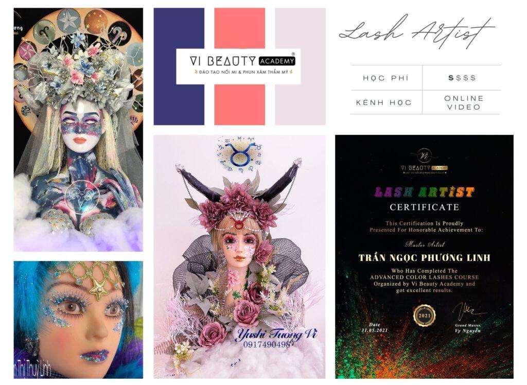 Fantasy Lash Artist - khóa học nối mi màu nghệ thuật fantasy - Vi Beauty Academy